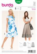 6766 Burda Pattern: Misses' Skirts